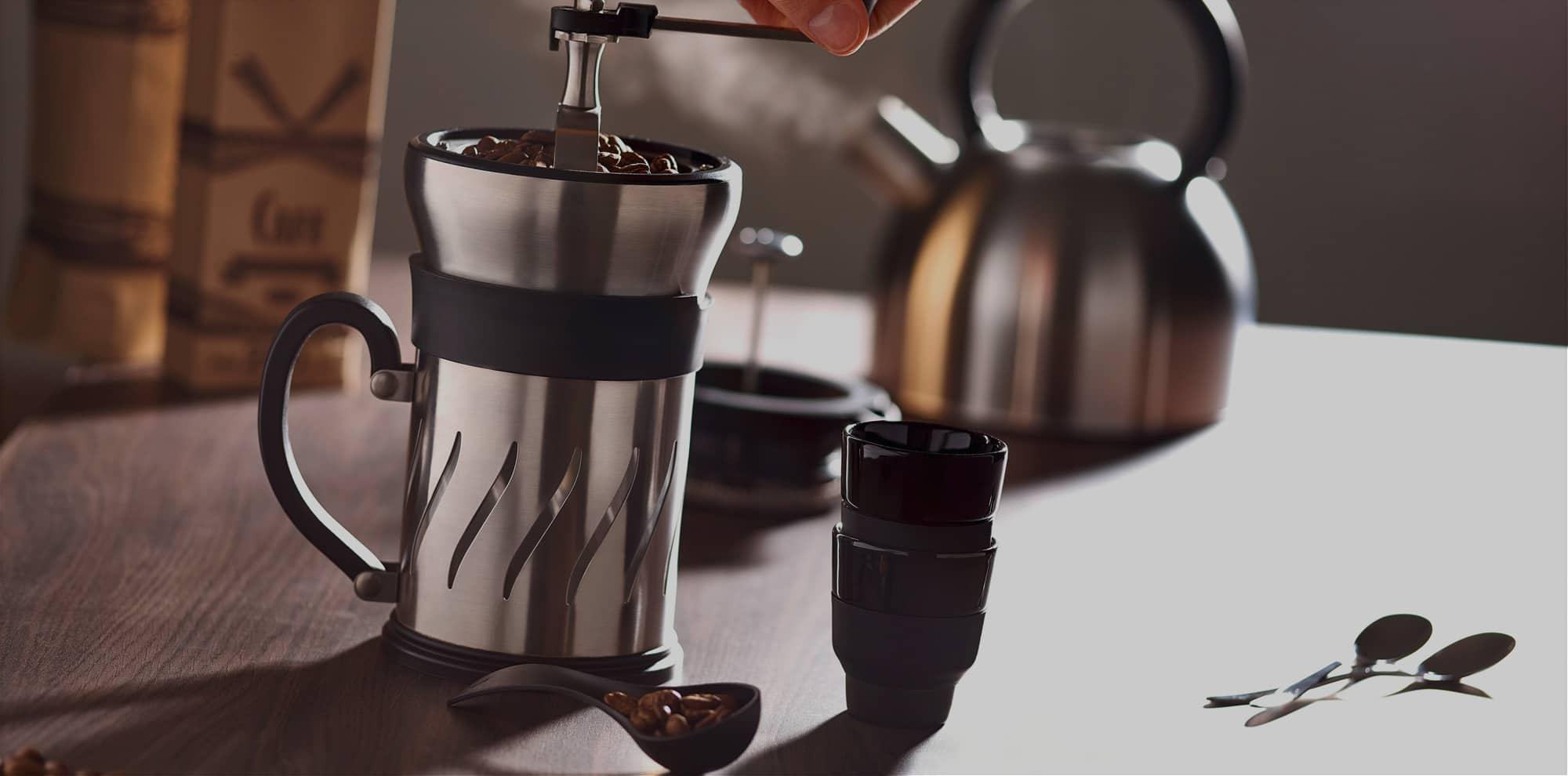 la cafeti re avec moulin int gr peugeot saveurs. Black Bedroom Furniture Sets. Home Design Ideas